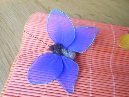 Nylonový motýl modrý