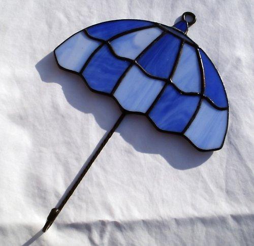 Věšáček s vitrážkou ve tvaru deštníku - velký