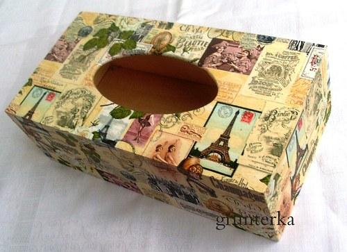 krabička na kapesníky-Paříž
