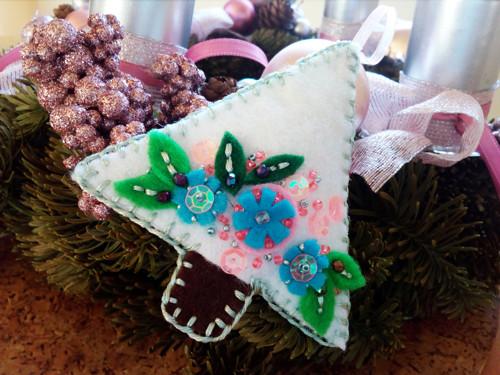 Vánoční ozdoba Cukrový strom 3ks