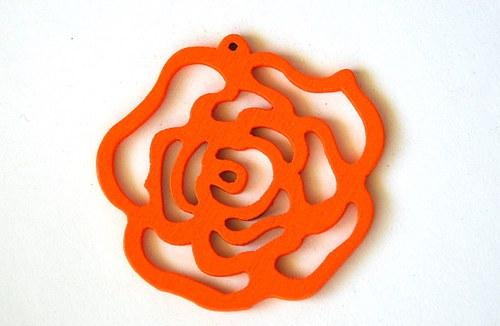 dřevěná růže- oranžová