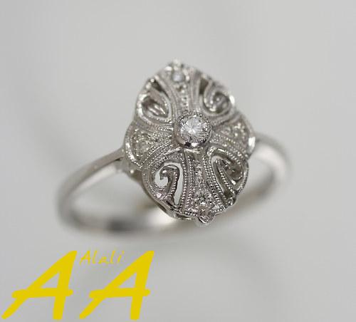 Bílá krajka s Brilianty - prsten