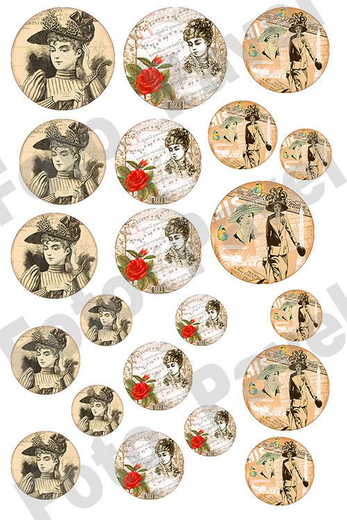 Vintage  motivy  pro křišťálovou pryskyřici