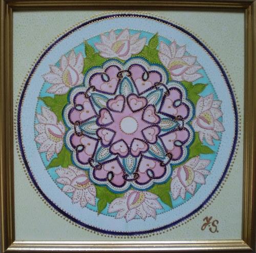 Mandala Lotos a srdce