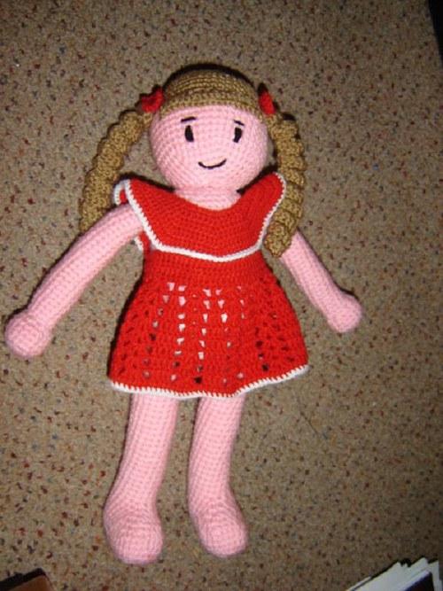 První panenka pro malé holčičky - návod