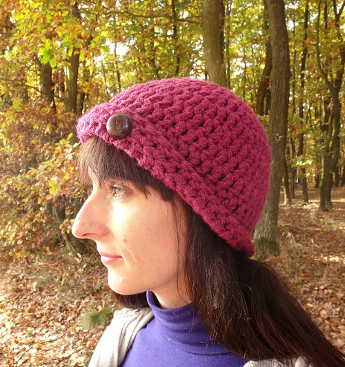 Háčkovaný klobouček Borůvka