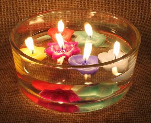 Sada vánočních plovoucích svíček