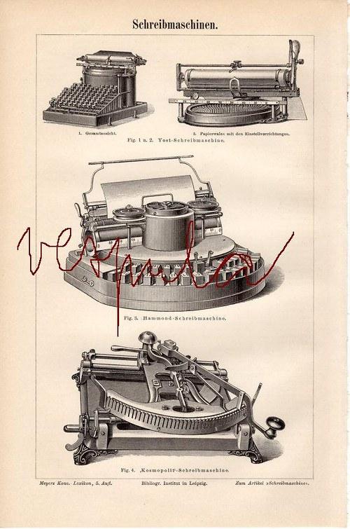 Psací stroje I