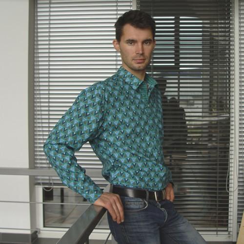 TROJÚHELNÍKY V TŮNI pánská bavlněná košile vel. L