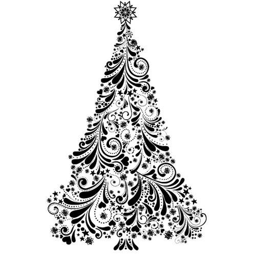 Razítko - Vánoční stromeček