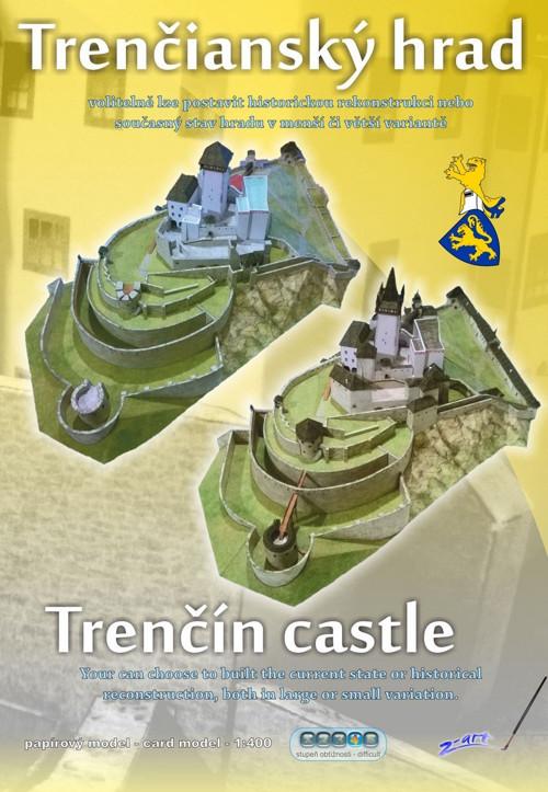 Papírový model - Trenčianský hrad