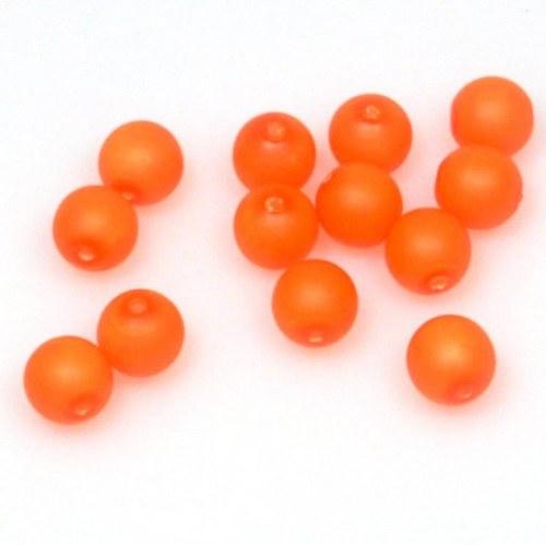 Neonové korálky 50 ks / 8 mm / oranžové