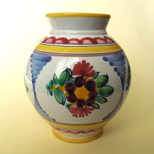Váza LITOMYŠL KERAMIKA zdobená ruční malbou