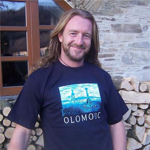 Tričko s motivem Olomouce - tmavě modré