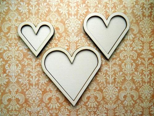 Srdce dvojité - velké 10,5cm