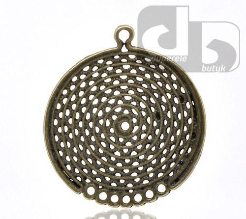 Ozdobné bronzové ramínko 34 x 31mm - 2 ks