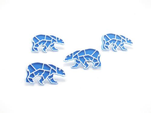Připínáček lední medvěd sky blue/traffic white