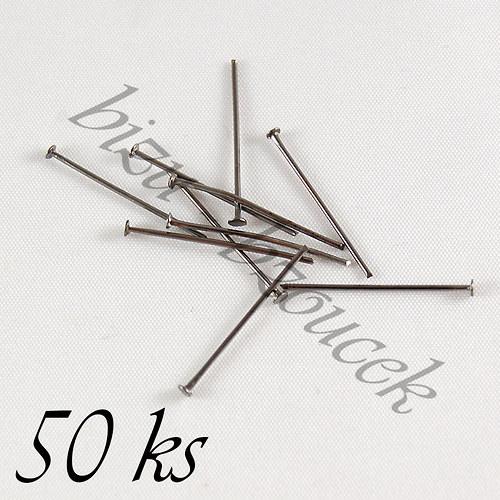 Ketlovací nýty gunmetalové barvy 16mm - 50ks