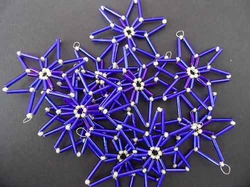 Set 10 modrých hvězdiček