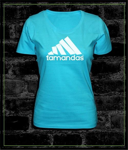 Dámské tyrkysové tričko Ťamandas