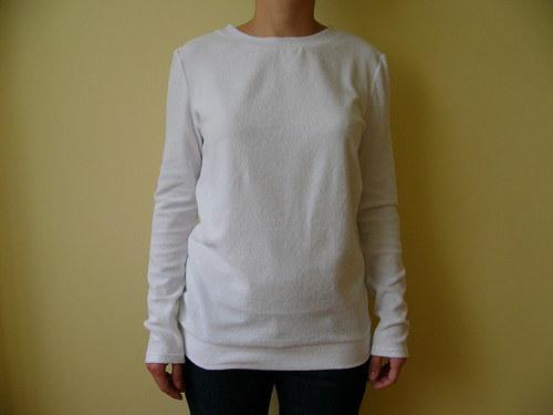Bíle froté tričko