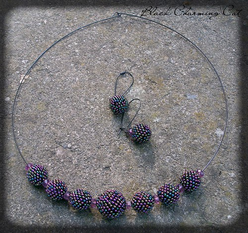 Temná krása - sada šperků