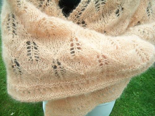 Velký mohérový šátek - pléd