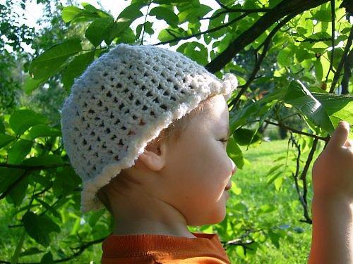 Jarněletní klobouček - bílý