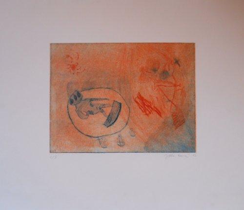 """Grafika \""""Oranžová halucinace\"""""""