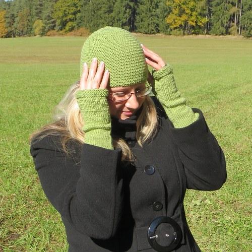 Zelená čepice