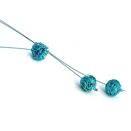 Tyrkysová odrátkovaná - náhrdelník
