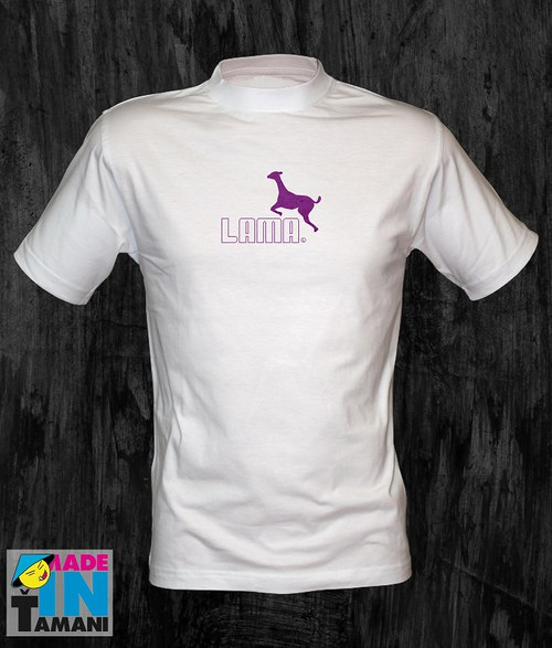 Pánské bílé tričko s Lamou 05