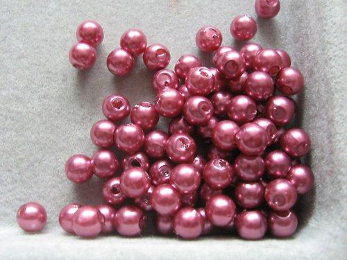 Voskové korálky - starirůžová  5 mm / 30 ks