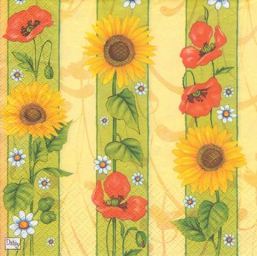 Ubrousek - slunečnice a vlčí máky