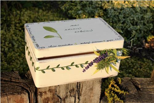 Dřevěná krabička na ZDRAVÉ zobání
