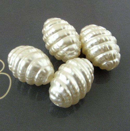 Perleťové korálky spirálky 16 mm - 4 ks