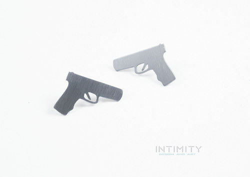 náušnice Pistole