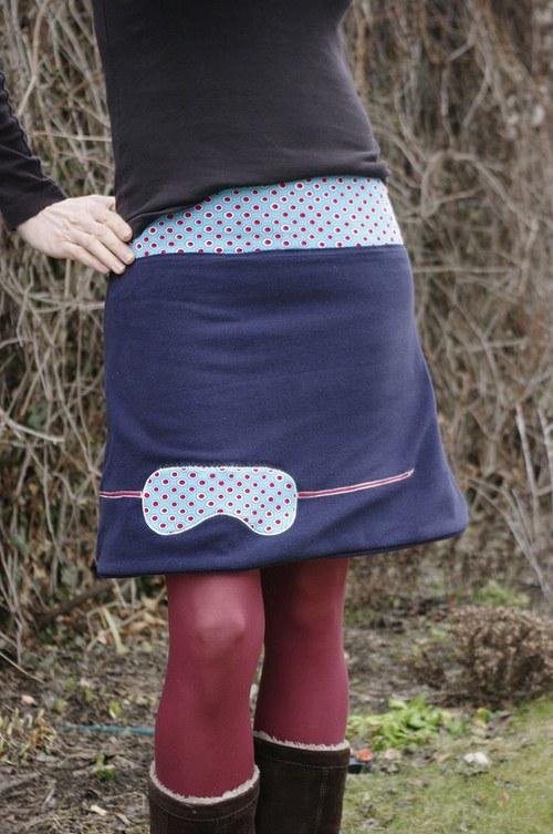 Oboustranná teplá sukně Hanislava