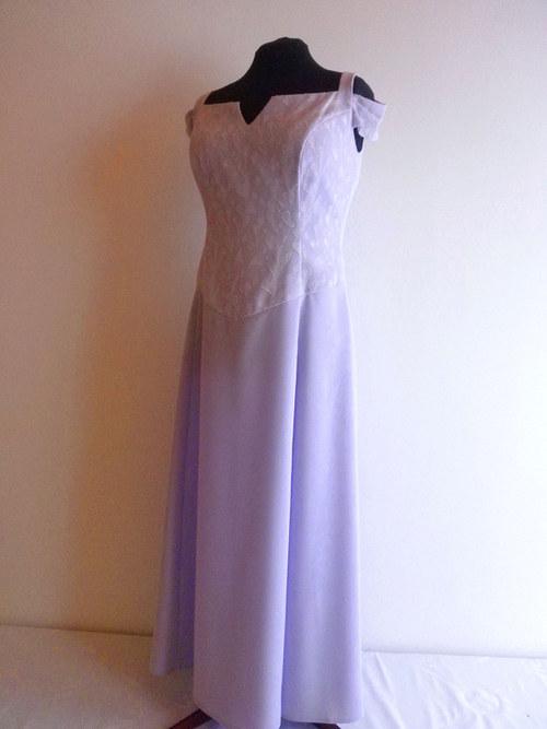 Na druhou svatbu fialkové šaty 218-vel. 48-50