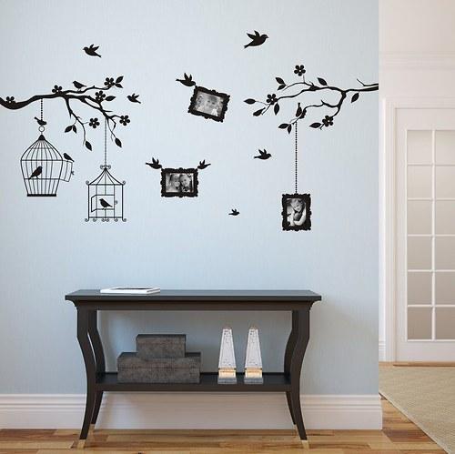 140x60cm Vtáčiky v konároch pre fotky 9x13cm 3410n