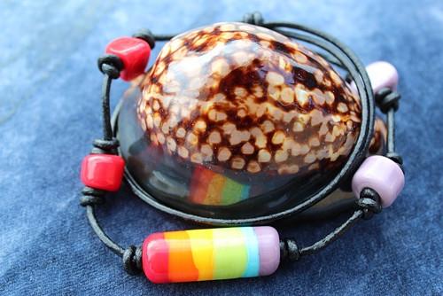 PRUHY Z DUHY :) náhrdelník z ručně vinutého skla