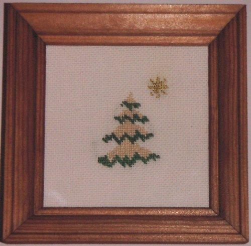 Vyšívaný obrázek - zasněžený stromek