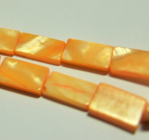 PER813/2 Perleť - obdélník 15x8 mm/oranž/ 2ks
