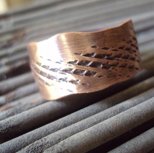 Prsten Kobra z mědi