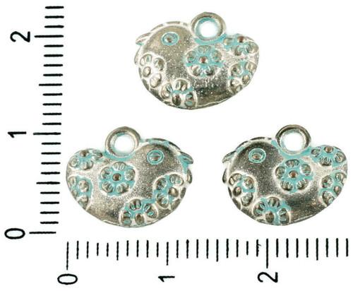 8ks české Tyrkysová Modrá Patina Antique Silver Tó