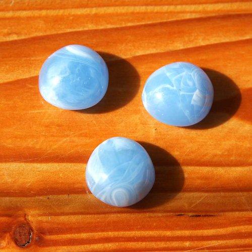Akrylové Čočky 2,5cm - 2ks - Modré