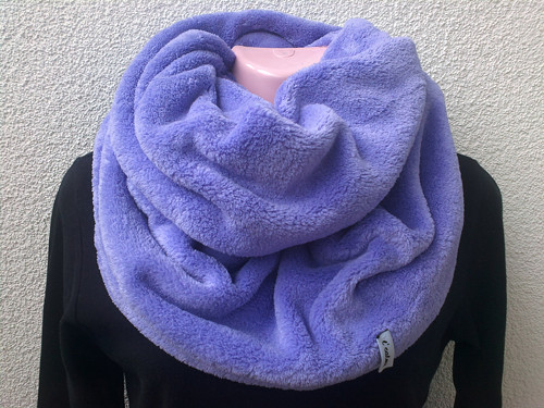 fleecový nákrčník - světle fialový