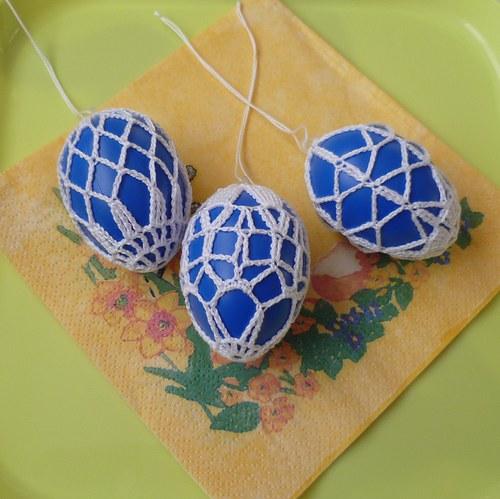 Sada 3 ks modrých vajíček