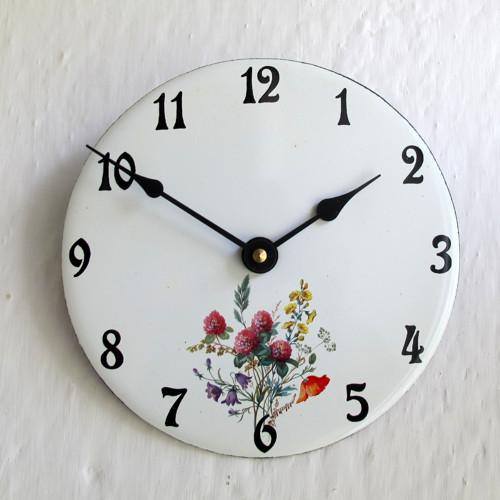 Smaltované hodiny kulaté malé 1