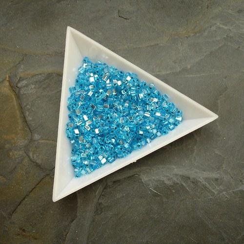 Rokajl modrý s průtahem - trojúhelníčky - 20g